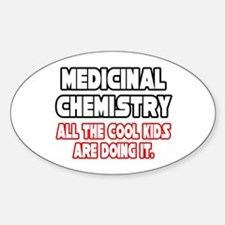 """Med Chem...Cool Kids"" Oval Decal"