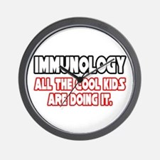 """Immunology...Cool Kids"" Wall Clock"