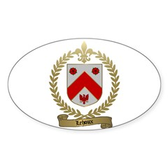 LEHOUX Family Oval Decal