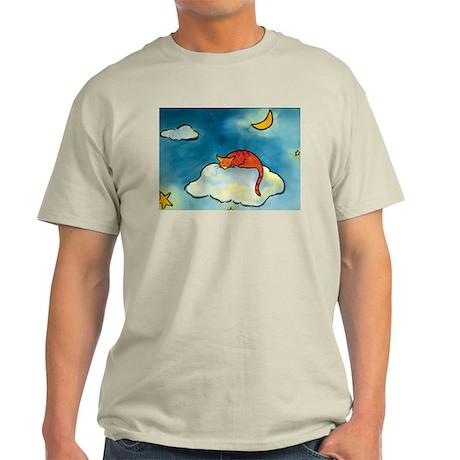 sleeping cloud cat with moon Light T-Shirt