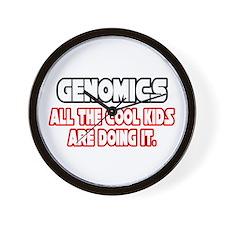 """""""Genomics...Cool Kids"""" Wall Clock"""