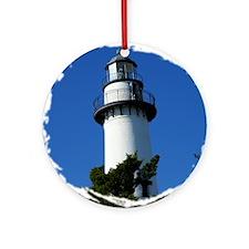 St Simons Lighthouse Ornament (Round)