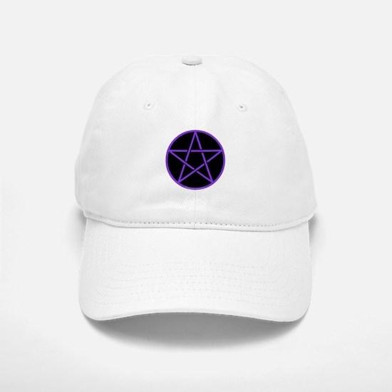Purple/Black Pentagram Cap