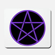 Purple/Black Pentagram Mousepad