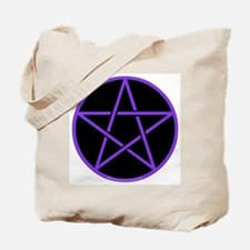 Purple/Black Pentagram Tote Bag
