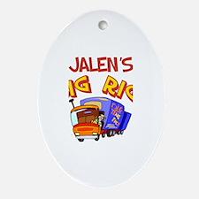 Jalen's Big Rig Oval Ornament