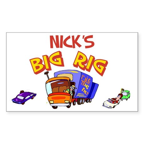 Nick's Big Rig Rectangle Sticker