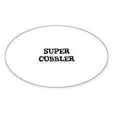 SUPER COBBLER Oval Decal