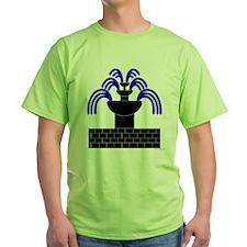 Fontaine Dans Sable Green T-Shirt