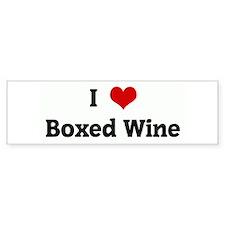 I Love Boxed Wine Bumper Bumper Sticker