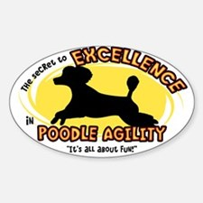 The Secret to Poodle Agility Oval Decal