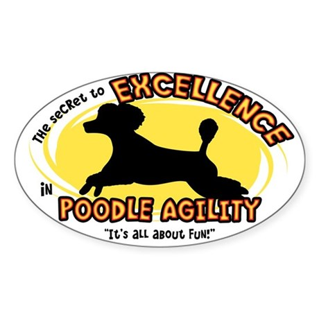 The Secret to Poodle Agility Oval Sticker