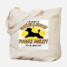 The Secret to Poodle Agility Tote Bag