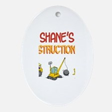 Shane's Construction Tractors Oval Ornament
