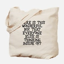 where is this wonderful box Tote Bag