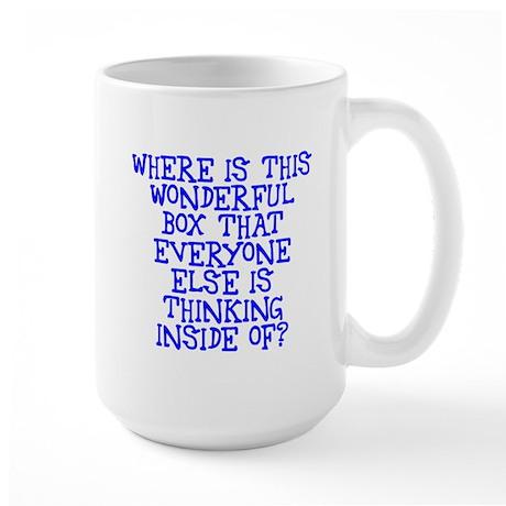 where is this wonderful box Large Mug