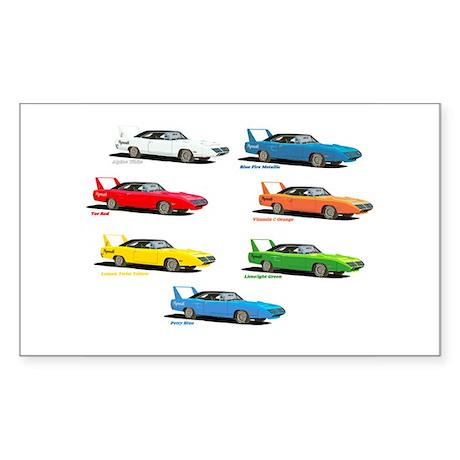Super Colors Rectangle Sticker 10 pk)