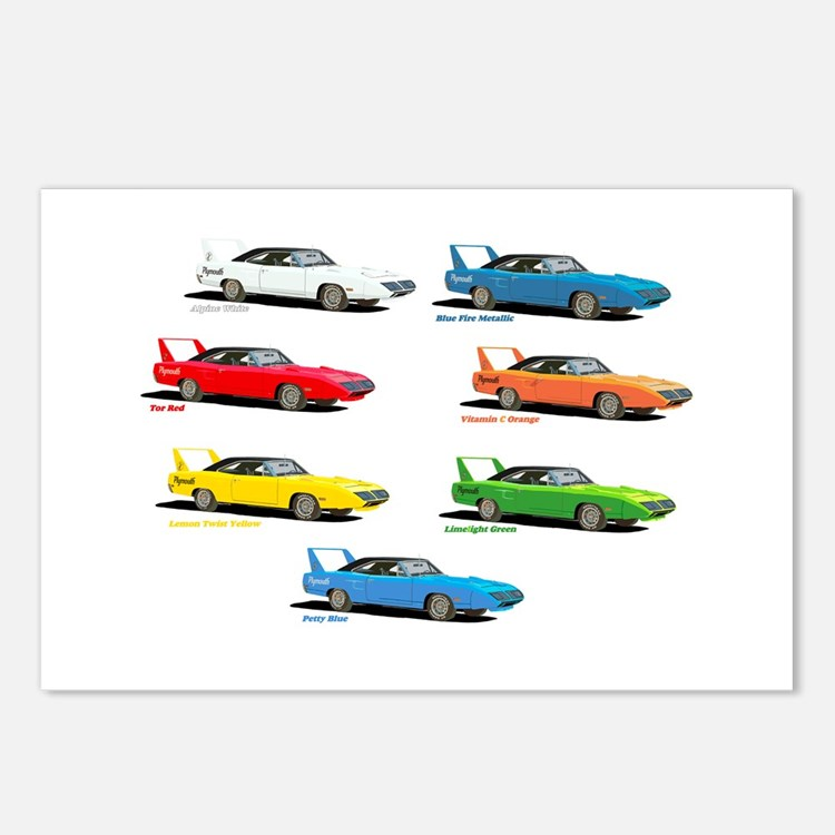 Super Colors Postcards (Package of 8)