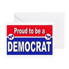 Proud to be a Democrat Greeting Card