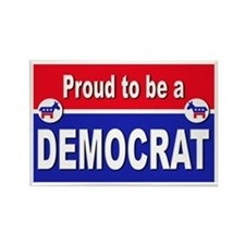 Proud to be a Democrat Rectangle Magnet