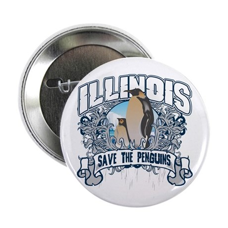 "Save the Penguins Illinois 2.25"" Button (100 pack)"