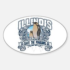 Save the Penguins Illinois Oval Decal
