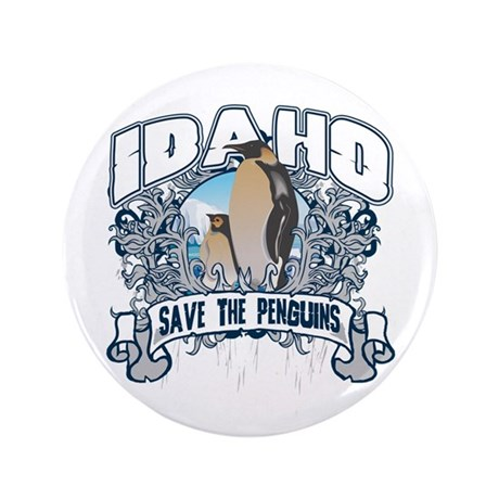 "Save the Penguins Idaho 3.5"" Button"