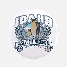 "Save the Penguins Idaho 3.5"" Button"