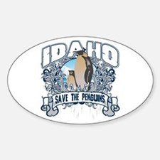 Save the Penguins Idaho Oval Decal