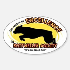 The Secret to Rottweiler Agility Oval Decal