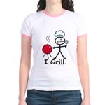 Grilling Stick Figure Jr. Ringer T-Shirt