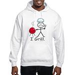 Grilling Stick Figure Hooded Sweatshirt