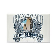 Save the Penguins Hawaii Rectangle Magnet