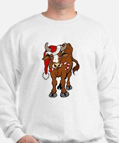 Christmas Cow Sweatshirt