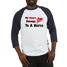My Heart Nurse Baseball Jersey