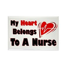 My Heart Nurse Rectangle Magnet