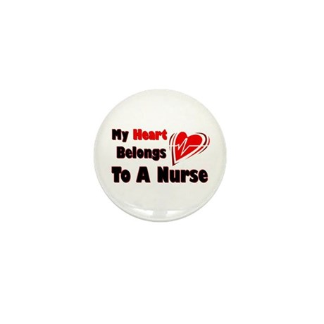 My Heart Nurse Mini Button