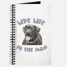 Cute Chocolate lab lovers Journal