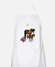 Christmas Mare and Colt Apron