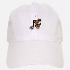 Christmas Mare and Colt Baseball Baseball Cap