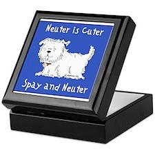 Neuter Is Cuter (Dog) Keepsake Box