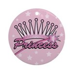 Pink Princess Crown Ornament (Round)