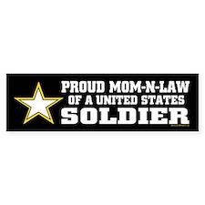 Proud Mom-n-law of a U.S. Soldier Bumper Bumper Sticker