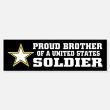 Proud Brother Soldier/blk Bumper Bumper Sticker