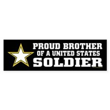 Proud Brother Soldier/blk Bumper Stickers