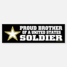 Proud Brother Soldier/blk Sticker (Bumper)