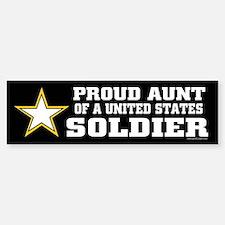 Proud Aunt of a U.S. Soldier/BLK Bumper Bumper Sticker