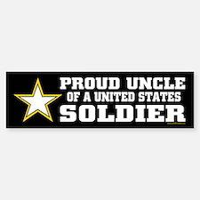 Proud Uncle of a U.S. Soldier/BLK Bumper Bumper Sticker