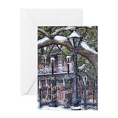 New Orleans Christmas Snow Art Card