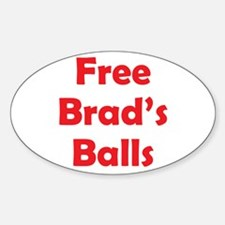 Free Brad's Balls Oval Decal